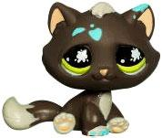 Littlest Pet Shop LOOSE Figure Black Cat