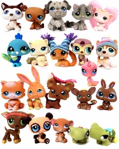 Littlest Pet Shop LOOSE Lot of 21 RANDOM Pets