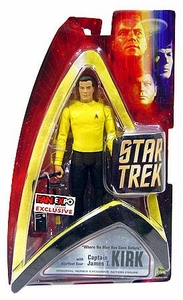 Star Trek Original Series Exclusive FanExpo Action Figure Captain James T. Kirk with Starfleet Gear [Where No Man has Gone Before] Damaged Package, Mint Contents!