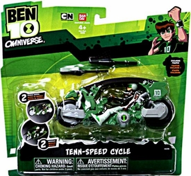 Ben 10 Omniverse Vehicle Tenn-Speed Cycle [Exclusive Ben 10 with Racing Gear Action Figure]