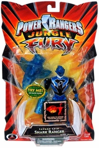 Power Rangers Jungle Fury Action Figure Savage Spin Shark Ranger [Blue]