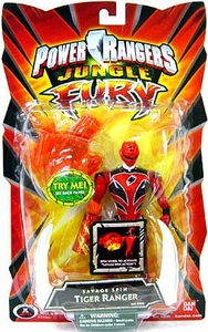 Power Rangers Jungle Fury Action Figure Savage Spin Tiger Ranger [Red]