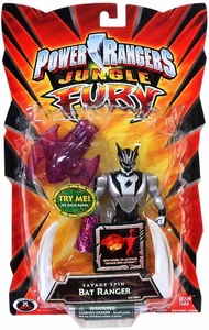Power Rangers Jungle Fury Action Figure Savage Spin Bat Ranger [Silver & Black]