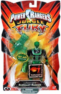 Power Rangers Jungle Fury Action Figure Savage Spin Elephant Ranger [Green]