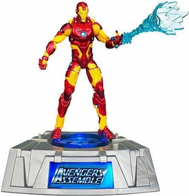 Marvel Universe Exclusive Comic Series Figure With Light Up Base Iron Man