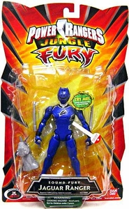 Power Rangers Jungle Fury Action Figure Sound Fury Jaguar Ranger [Blue]