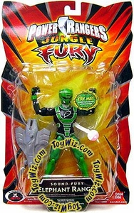 Power Rangers Jungle Fury Action Figure Sound Fury Elephant Ranger [Green]