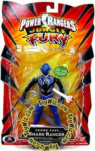 Power Rangers Jungle Fury Action Figure Sound Fury Shark Ranger [Blue with Black Chest]