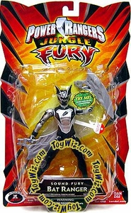 Power Rangers Jungle Fury Action Figure Sound Fury Bat Ranger [Silver & Black]