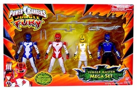 Power Rangers Jungle Fury Action Figure 4-Pack Jungle Master Mega Boxed Set [Includes Cheetah Ranger!]
