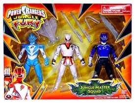 Power Rangers Jungle Fury Action Figure 3-Pack Jungle Master Squad Set [Rhino, Shark & Wolf]