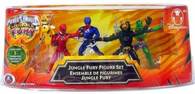 Disney Power Rangers Jungle Fury Exclusive 5 Piece Mini PVC Figure Collector Set
