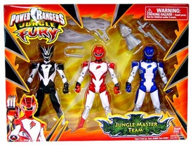 Power Rangers Jungle Fury Action Figure 3-Pack Jungle Master Team Set [Includes Bat, Tiger & Janguar Rangers!]