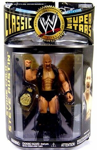 WWE Wrestling Classic Superstars Series 22 Action Figure Stone Cold Steve Austin [Smoking Skull Leather Vest]