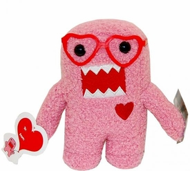 Domo 6.5 Inch Plush Figure Valentine's Day Heart Glasses Domo [Pink]
