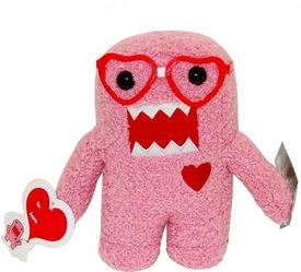 Domo 6.5 Inch Plush Figure Valentine's Day NERD Heart Glasses Domo [Pink]