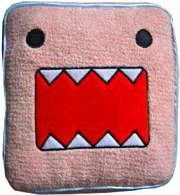 Domo 14 Inch Valentine's Day Deluxe Pink Face Plush Pillow