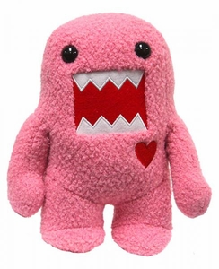 Domo 9 Inch DELUXE Plush Figure PINK Domo with Heart