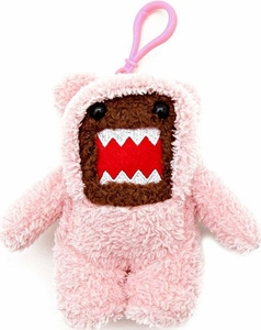 Domo 4 Inch Plush Figure Clip On Teddy Bear Domo [Pink]