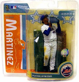 McFarlane Toys MLB Sports Picks Series 19 Action Figure Pedro Martinez (New York Mets) White Jersey