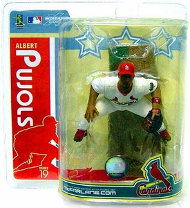 McFarlane Toys MLB Sports Picks Series 19 Action Figure Albert Pujols (St. Louis Cardinals) White Jersey & RED Wristband