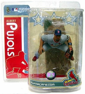McFarlane Toys MLB Sports Picks Series 19 Action Figure Albert Pujols (St. Louis Cardinals) Gray Jersey Variant