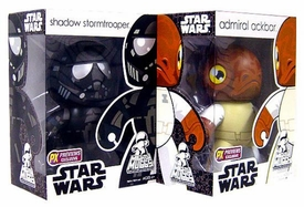 Star Wars Mighty Muggs Set of Both Previews Exclusive Figures [Admiral Ackbar & Shadow Trooper]