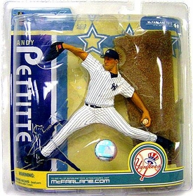 McFarlane Toys MLB Sports Picks Series 19 Action Figure Andy Pettitte (New York Yankees) White Jersey