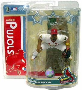 McFarlane Toys MLB Sports Picks Series 19 Action Figure Albert Pujols 3 (St. Louis Cardinals) White Jersey & GOLD Wristband Variant Slight Ding Top Right Corner!