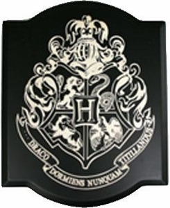NECA Harry Potter Laser Engraved Wood Plaque Hogwarts