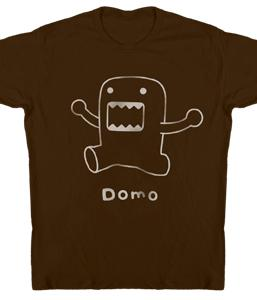 Domo Adult T-Shirt Domo Line Art