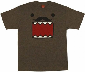Domo Adult T-Shirt Domo Face Stache