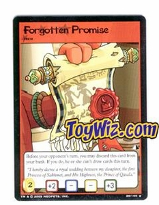 Neopets Trading Card Game Lost Desert Single Card Rare  26/100 Forgotten Promise