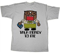 Domo Adult T-Shirt Talk Nerdy