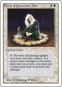 Magic the Gathering Unlimited Edition Single Card Common Circle of Protection: Blue