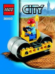 LEGO City Mini Figure Set #30003 Steam Roller