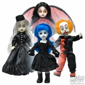 Mezco Toyz Living Dead Dolls 2012 SDCC San Diego Comic Con Exclusive Resurrection Series 6 Set of 4 Figures [Demonique, Blue, Schitzo & Ms. Eerie]
