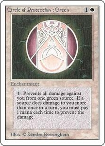Magic the Gathering Unlimited Edition Single Card Common Circle of Protection: Green