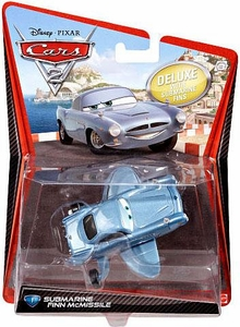 Disney / Pixar CARS 2 Movie 1:55 Die Cast Car Oversized Vehicle #1 Submarine Finn McMissile