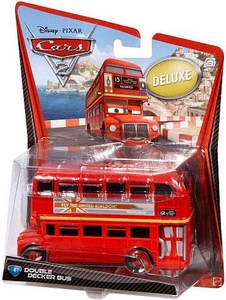 Disney / Pixar CARS 2 Movie 1:55 Die Cast Car Oversized Vehicle #4 Double Decker Bus