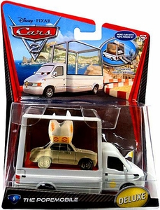 Disney / Pixar CARS 2 Movie 1:55 Die Cast Car Oversized Vehicle #9 Popemobile