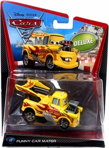 Disney / Pixar CARS 2 Movie 1:55 Die Cast Car Oversized Vehicle #12 Funny Car Mater