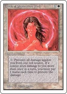 Magic the Gathering Unlimited Edition Single Card Common Circle of Protection: Red