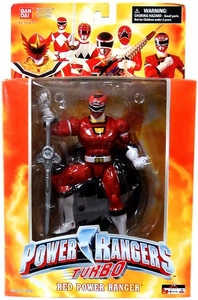 Power Rangers Deluxe Collector Figure Turbo Red Ranger