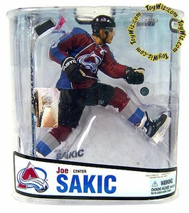 McFarlane Toys NHL Sports Picks Series 18 Action Figure Joe Sakic 3 (Colorado Avalanche) Maroon Jersey Variant