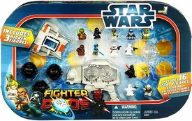 Star Wars Fighter Pods Series 1 Mini Figure 16-Pack At-At & Snowspeeder