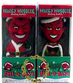 Funko Wacky Wobbler Bobble Heads Hell-O-Days El Diablo & Demonique Set