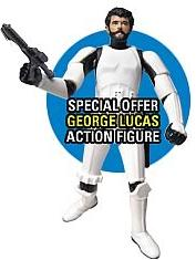 Star Wars Saga '06 Vintage Redemption Action Figure George Lucas in Stormtrooper Outfit