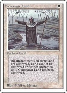 Magic the Gathering Unlimited Edition Single Card Uncommon Consecrate Land
