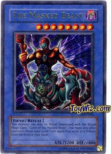 YuGiOh Labyrinth of Nightmare Single Card Ultra Rare LON-001 The Masked Beast